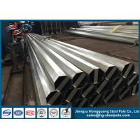 10KV Q345 Steel Material Steel Tubular Pole 40FT For Distribution Line Project Manufactures