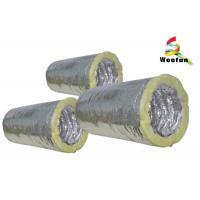 Fiberglass Insulated Flexible Ducting for Air Conditioning System Customized Sizes Manufactures