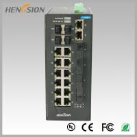 Buy cheap Fast 28 Port Switch , Fanless Gigabit Switch 14 electric port + 4 FX +4 Gigabit from wholesalers
