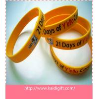 China CMYK printed silicone wristband with customized size on sale