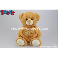 Childrens Toys Gift Brown I Love You Plush Bear With Heart Pillow Manufactures