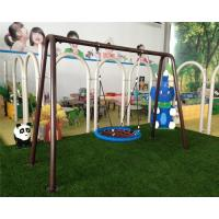 Quality Stainless Steel Children Swing Sets Abrasion Resistance red for sale
