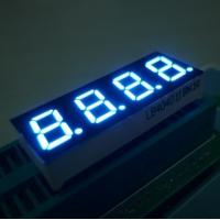 Bright Blue 7 Segment 4 Digit LED Display For Digital Indicators 0.4 Inch \ Manufactures