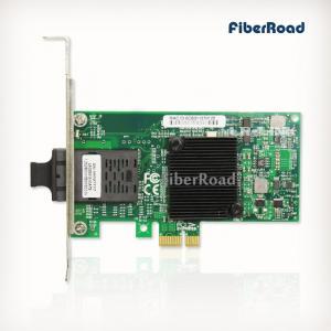China PCIe x1 1000Base-SX SC Port MM Fiber NIC (Intel 82575EB Based) on sale