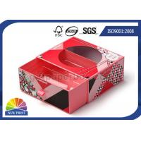 Transparent PVC Window Paper Gift Box With Blister Tray Glossy Lamination Manufactures