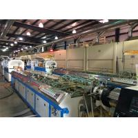 China 22kw PP PE WPC PVC Window Plastic Profile Extrusion Line For Skirting Board on sale