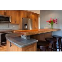 Wild Sea Foam Stone Granite Countertops , Light Green Darker Grays Vein Granite Worktops Manufactures