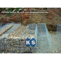 Hexagonal Wire Mesh Double Twisted Gabion Wall Baskets With ASTM A975-97 Standard Manufactures