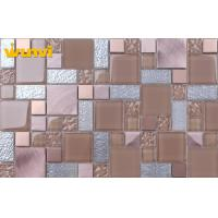 Decorative Wall and Floor Kitchen Mosaic Tiles , Kitchen Backsplash Glass Tile Manufactures