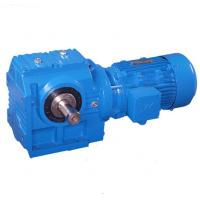 Flange Mounted Helical Worm Gear Motor Reducer , Solid Shaft Inline Helical Gearbox Manufactures