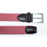 Buy cheap Handmade Purple Mens Web Belt Single Prong Buckle Style Easy Maintain from wholesalers