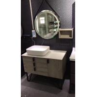 Home Premade Bathroom Vanities Mounted Above Counter Basin Circle Mirror Manufactures