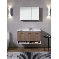 Quality Wall Hung Marble Top PVC Bathroom Vanity Antique Wooden Bathroom Furniture for sale