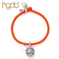 China Hot Sale Fragrance Milan Rope Bracelet with White  Gold Plated  Charm with CZ on sale