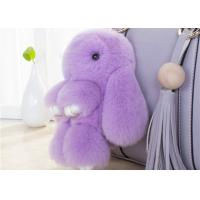 Lovely Shape Fluffy Rabbit Keychain , Pendant Soft Bunny Keychain 13 -25cm Manufactures