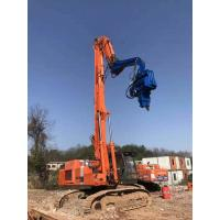 High Efficiency Excavator Mounted Pile Driver Low Vibration Easy Maintenance Manufactures