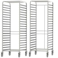 High Standard Stainless Steel Knocked-down Baking Tray Rack Trolley Manufactures