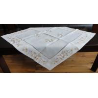 Cream / Beige Linen Hemstitch Tablecloth Handmade 40x90 40x150cm Sizes Manufactures