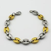 Fashion stainless steel screw bangle stainless steel clasps bracelet gold chain bracelet Manufactures