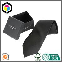 Silk Screen Print Color Logo Boutique Cardboard Gift Tie Packing Box Manufactures