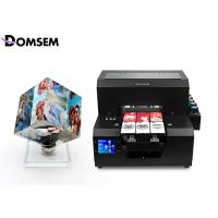 Professional A4 Uv Flatbed Printer Automatic Control Panel For Business Card Plastic Manufactures