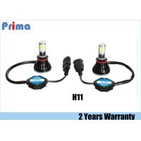4000LM H11 LED Headlight Bulb 6000K Cold White 40W Power Aluminium Alloy Manufactures