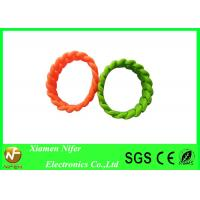 Eco-friendly Custom Silicone Wristbands , Trendy Soft Artificial Bangles Rubber Bracelet Manufactures