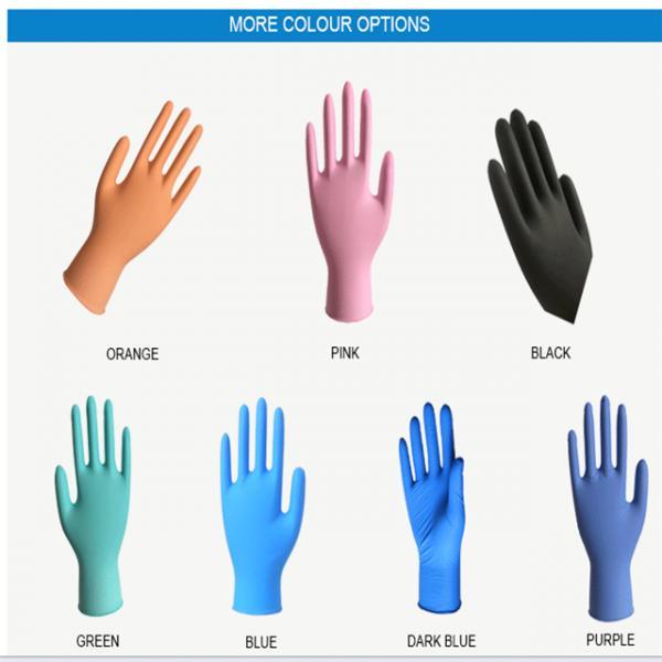 Ttexfured finger Disposable Nitrile Gloves 3.0g/3.5g/4.0g/4.5g/5.0g Cleanroom Nitrile Work Hand Gloves