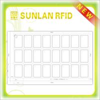 5*5 Format plastic RFID Tag Inlay for magnetic strip card / key card / rfid card Manufactures
