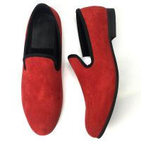 Different Color Mens Velvet Smoking Slippers , Men Business Casual Shoes Manufactures