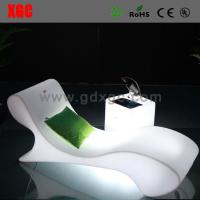 China Swimming Pool Illuminated White Plastic Outdoor Led Beach Lounge Chair on sale