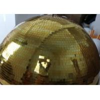 Quality 120CM Golden Mirror Ball Disco Stage Lights Customize Color Crystal Magic Rotating Ball for sale
