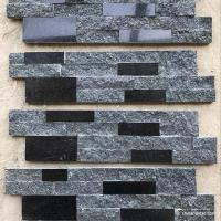 Natural stone , Natural Black Granite Wall Stone Cladding Ledge Stone Manufactures
