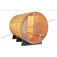 China Home sauna cabins , Weather resistant and cradles barrel steam sauna on sale