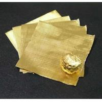 Pure chocolate aluminum foil wrappers , gold foil wrapped chocolates Soft Temper Manufactures