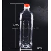 PET 1000ml empty mineral water bottles with screw caps for drinking supply samples Manufactures