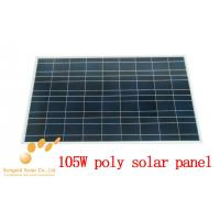 Poly Crystalline 105W 18V Solar Photovoltaic Panel Manufactures
