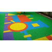 Anti - Static EPDM Rubber Flooring , Colorful Outdoor Play Area Flooring Manufactures
