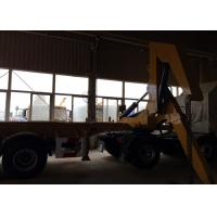 China SGS Truck Mounted Cranes Equipment For 3 Axles Semi Trailer Lifting 40ft Container on sale