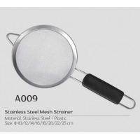 Good helper for cooker Stainless steel large colander with long handle in kitchen tea and coffee strainer Manufactures