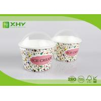 8oz Custom Logo Printed Disposable Ice Cream Cups Containers with Dome Lids Food Grade Certificated Manufactures