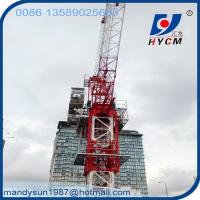 10 ton QTD125(5020) Luffing Jib Tower Crane with 50m Jib for Construction Building Manufactures