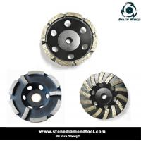 China 125mm Double Row Diamond Cup Grinding Wheel on sale