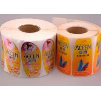 Printed Logo Waterproof Sticker Labels Coated Paper In Roll / Sheet Manufactures