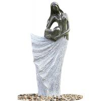 Classical Black Marble Statue Water Fountains In Fiberglass Material Manufactures