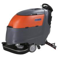 Two Brushes Battery Powered Compact Floor Scrubber Cleaning Machine High Efficiency Manufactures