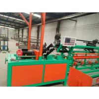 PLC Single / Double Wire Chain Link Fence Machine Easy Operating Green Color Manufactures