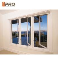 Water - Proof Aluminium Flush Casement Windows Powder Coating Thickness 1.0-2.0mm Manufactures
