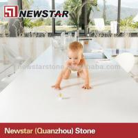 Cheap polished white artificial quartz countertop Manufactures