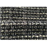 Channel Style Woven Lightweight Wool Fabric Black And White 150 CM Width OEM 500 G Manufactures
